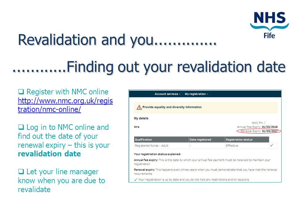 Finding out your revalidation date
