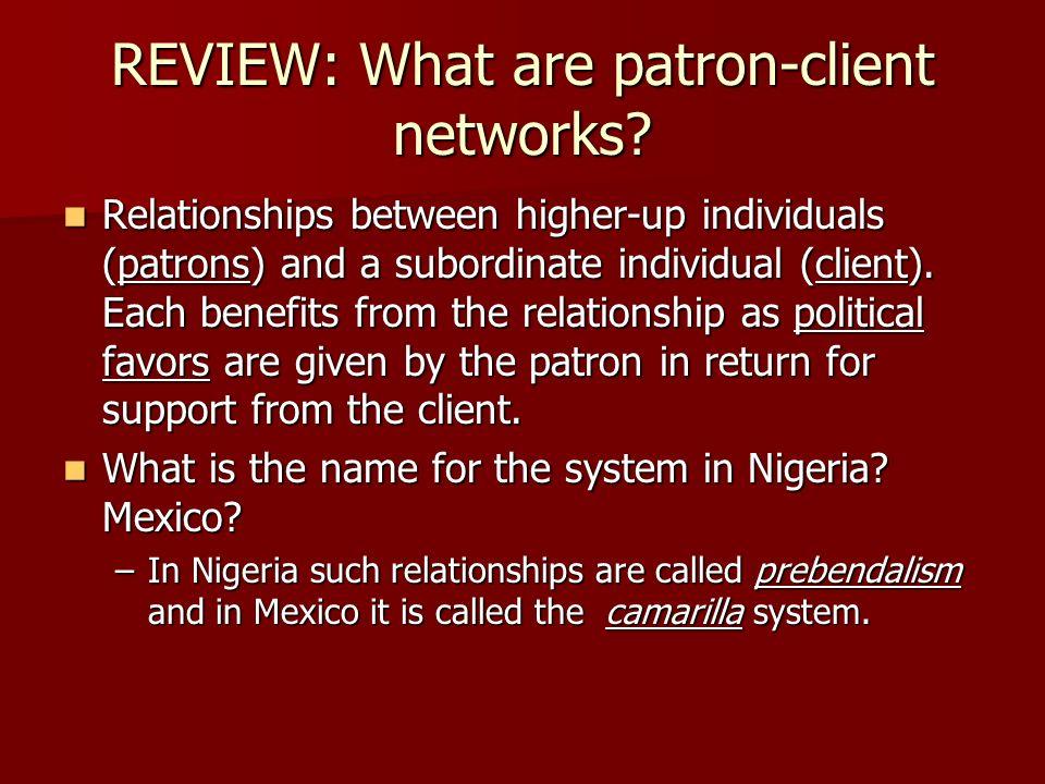 patron client network definition