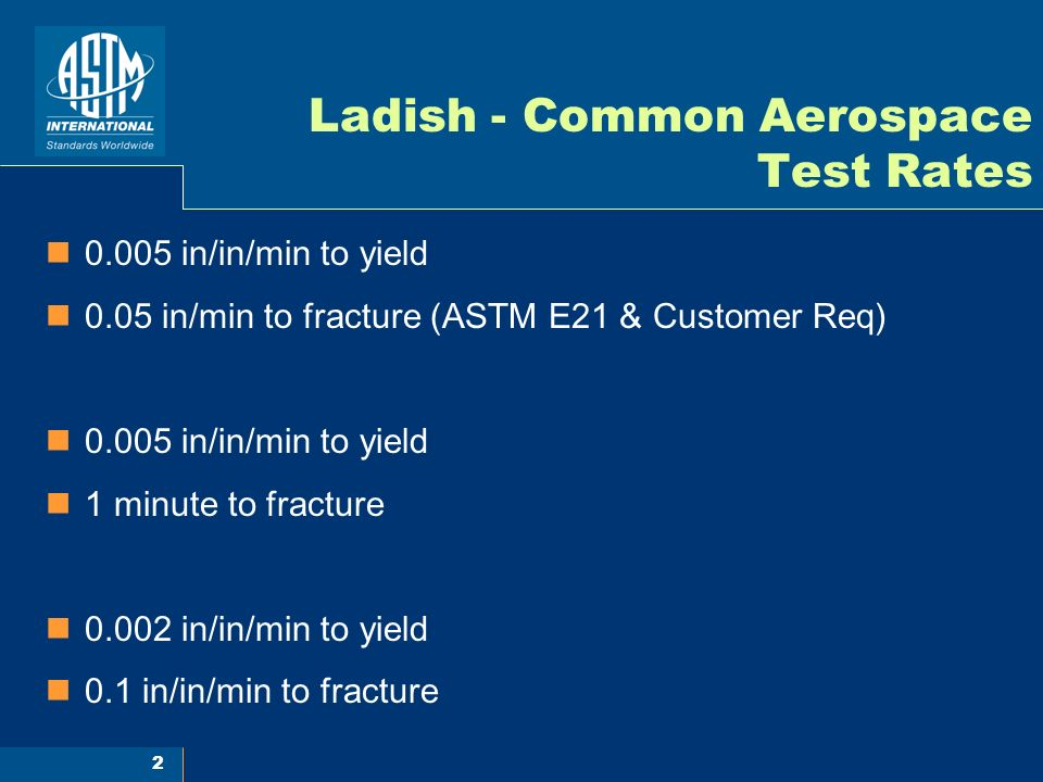 Ladish - Common Aerospace Test Rates
