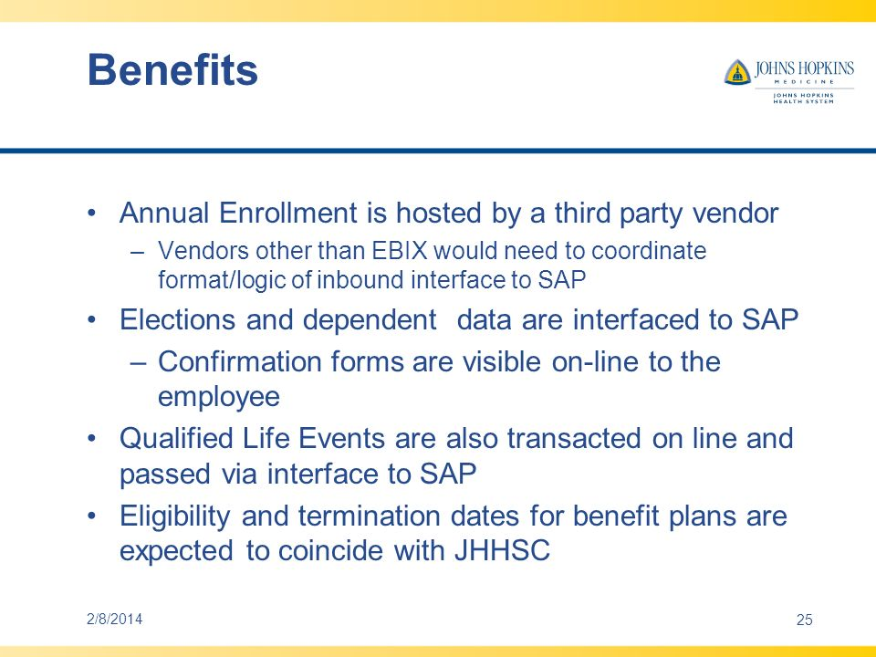 Benefits Annual Enrollment is hosted by a third party vendor