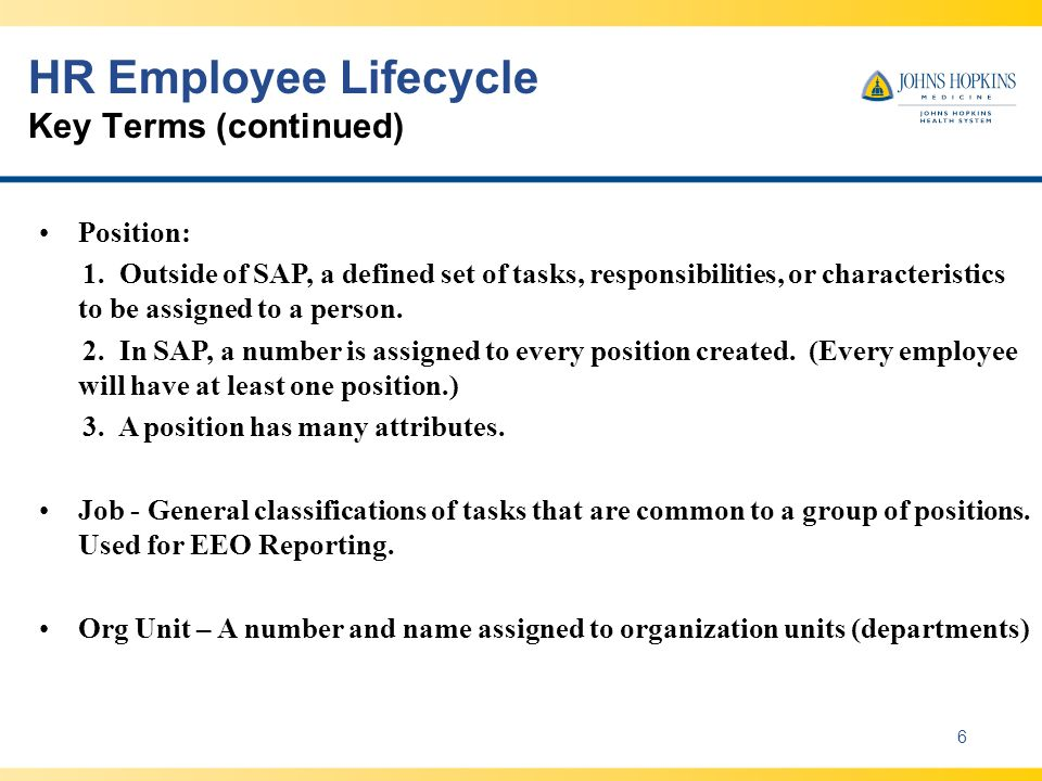 HR Employee Lifecycle Key Terms (continued)