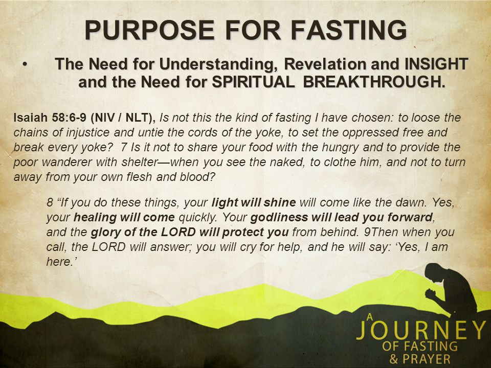DEFINITION Fasting is abstaining from food or bypassing the