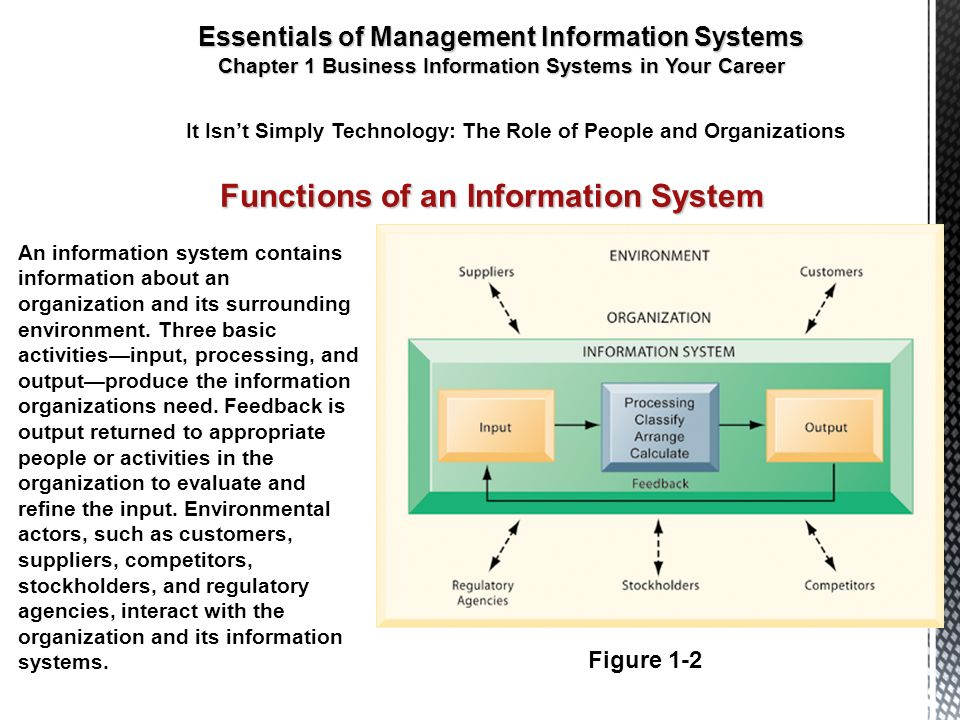 main functions of information systems