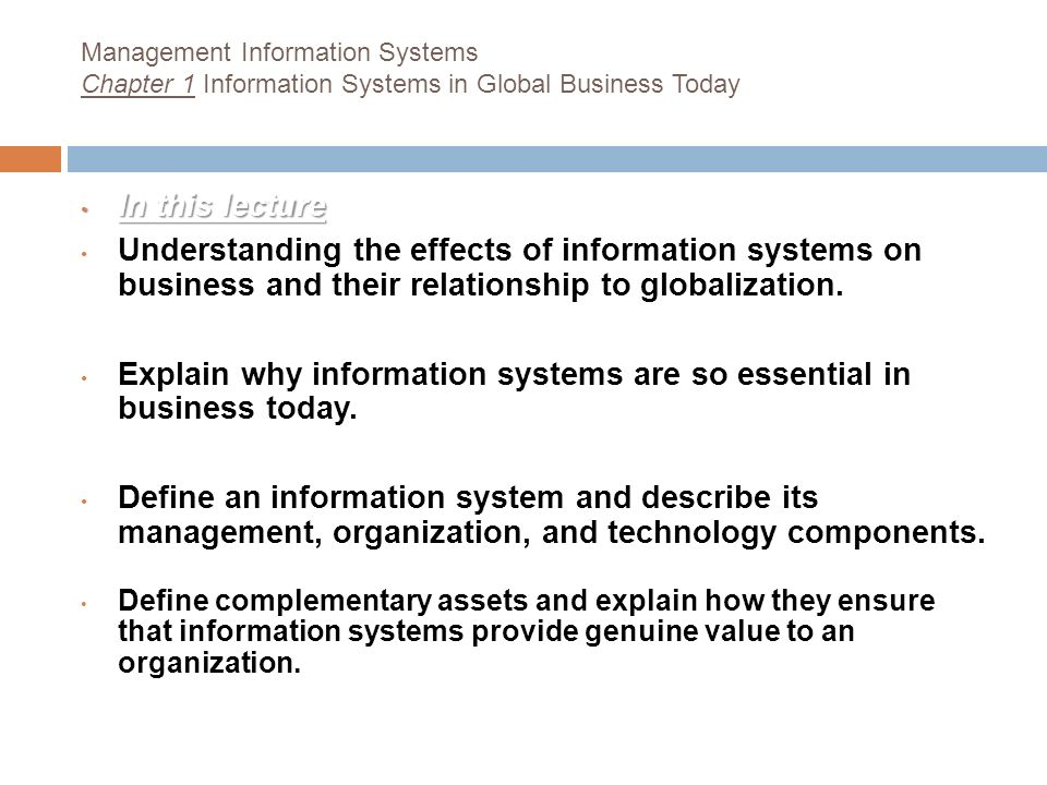 Information Systems In Global Business Today Ppt Download
