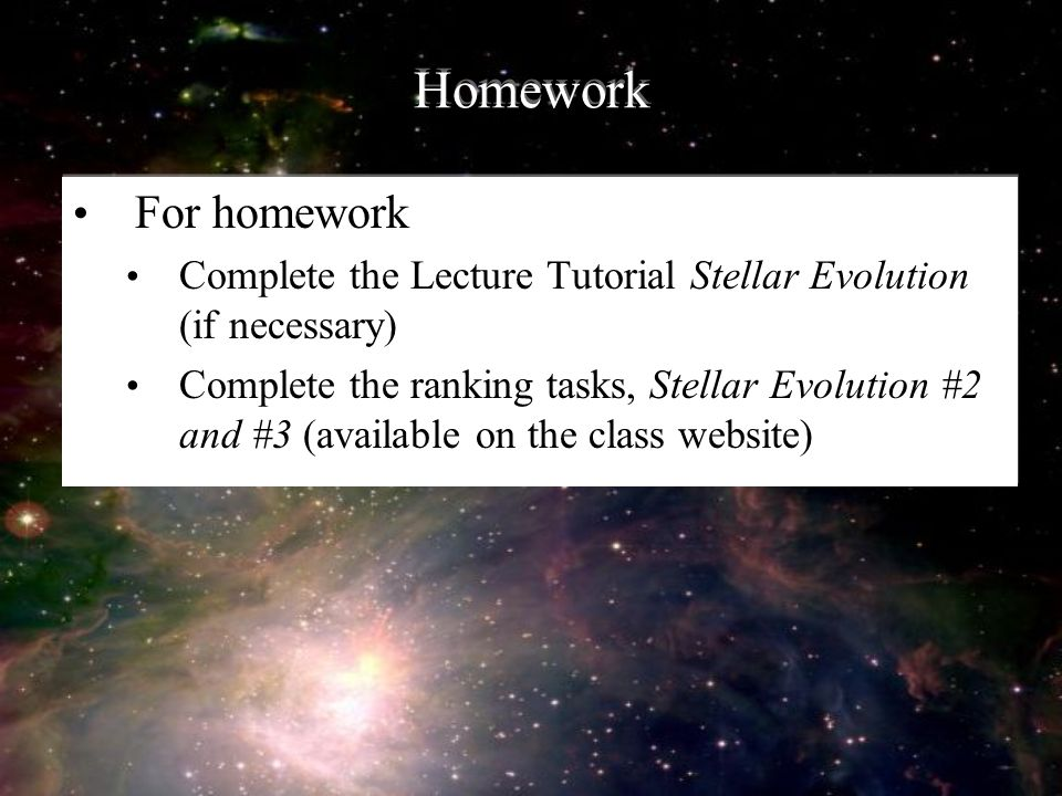 Stars IV Stellar Evolution Ppt Download