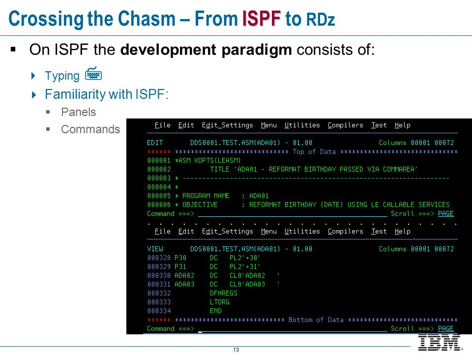 Introduction to Rational Developer for System z For ISPF Developers
