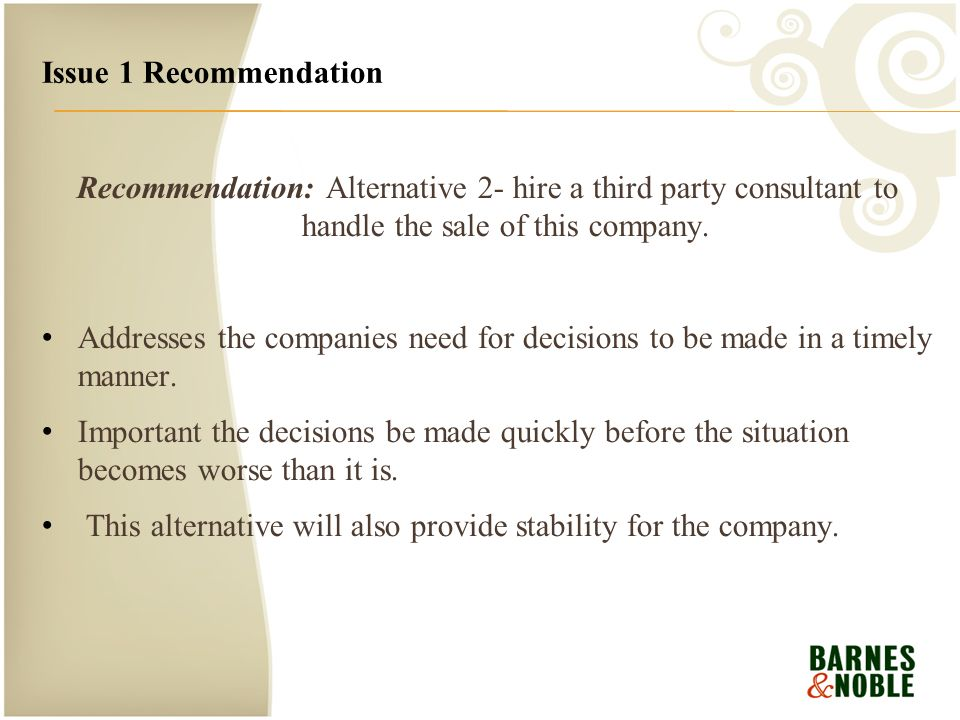 A Case Analysis of Barnes & Noble - ppt video online download