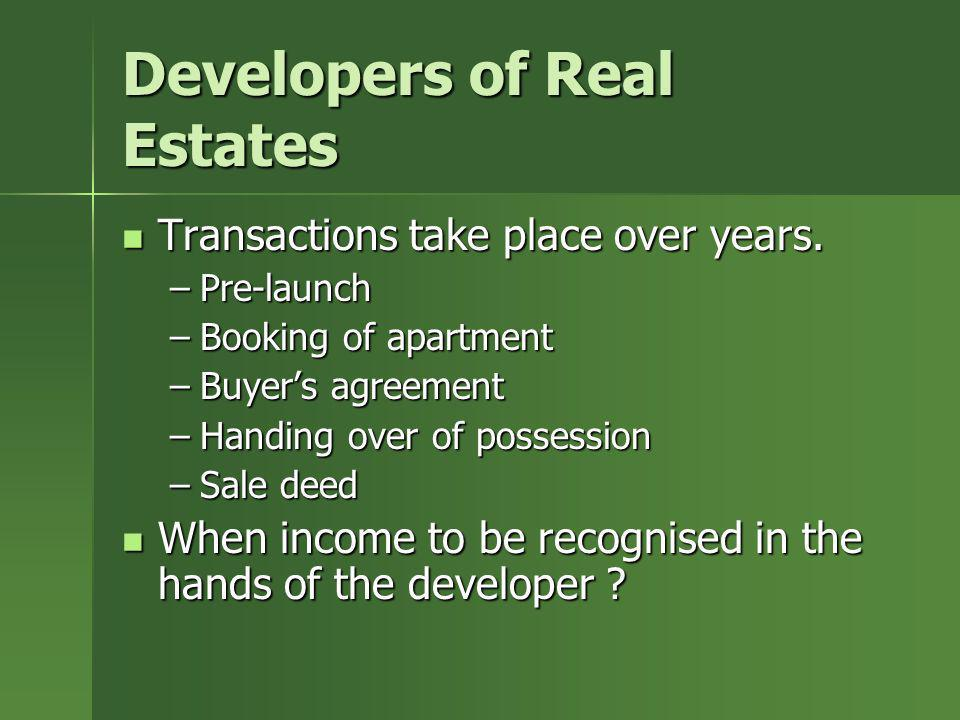 Developers of Real Estates