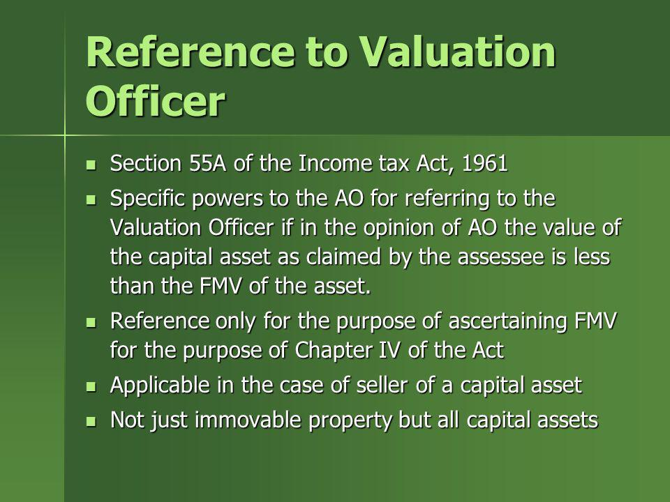 Reference to Valuation Officer
