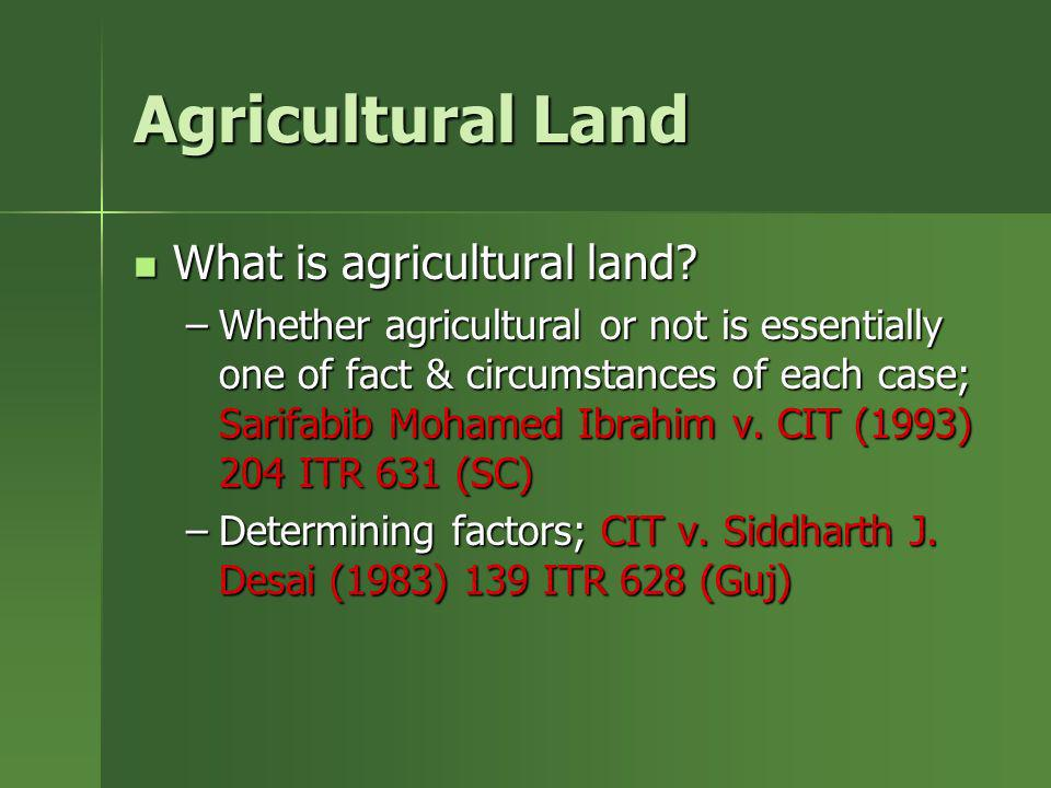 Agricultural Land What is agricultural land