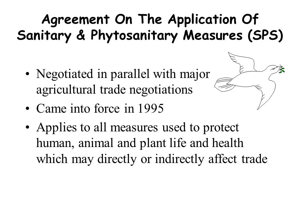 Agreement On The Application Of Sanitary & Phytosanitary Measures (SPS)