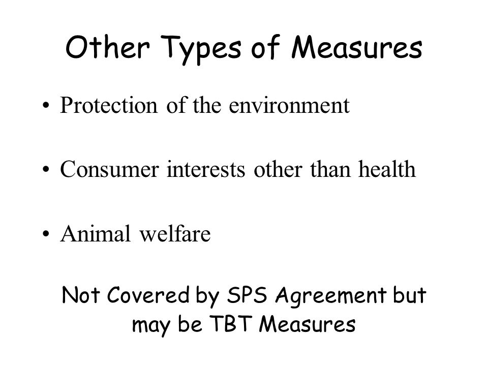 Other Types of Measures