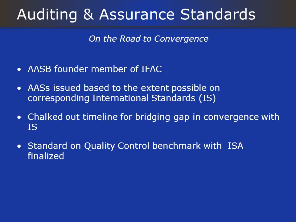 Auditing & Assurance Standards