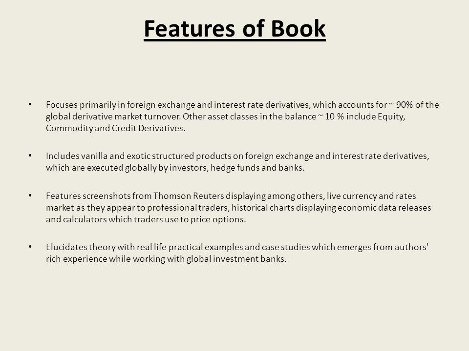 Features of Book