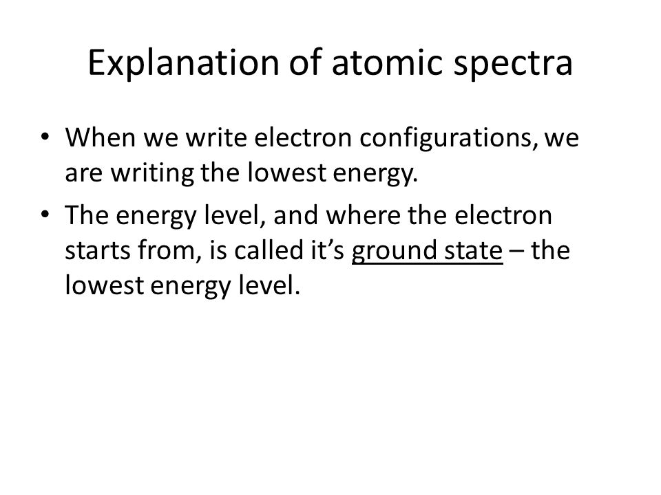 Explanation of atomic spectra
