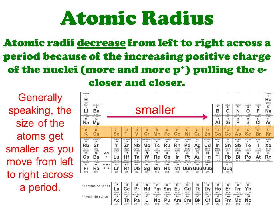 Chemical periodicity ws periodic properties ppt video online atomic radius urtaz Choice Image