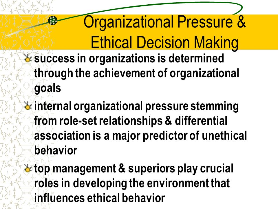 organizational pressure