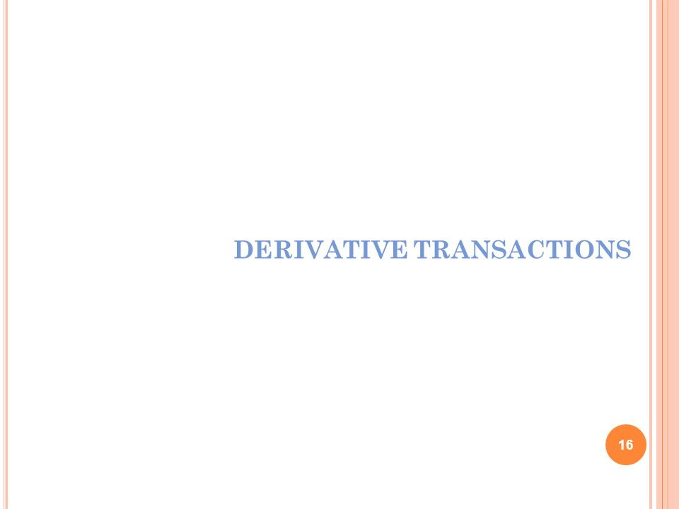 DERIVATIVE TRANSACTIONS