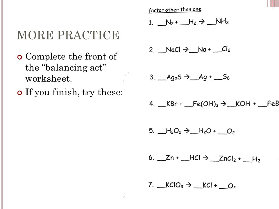 more practice complete the front of the balancing act worksheet - Balancing Act Worksheet
