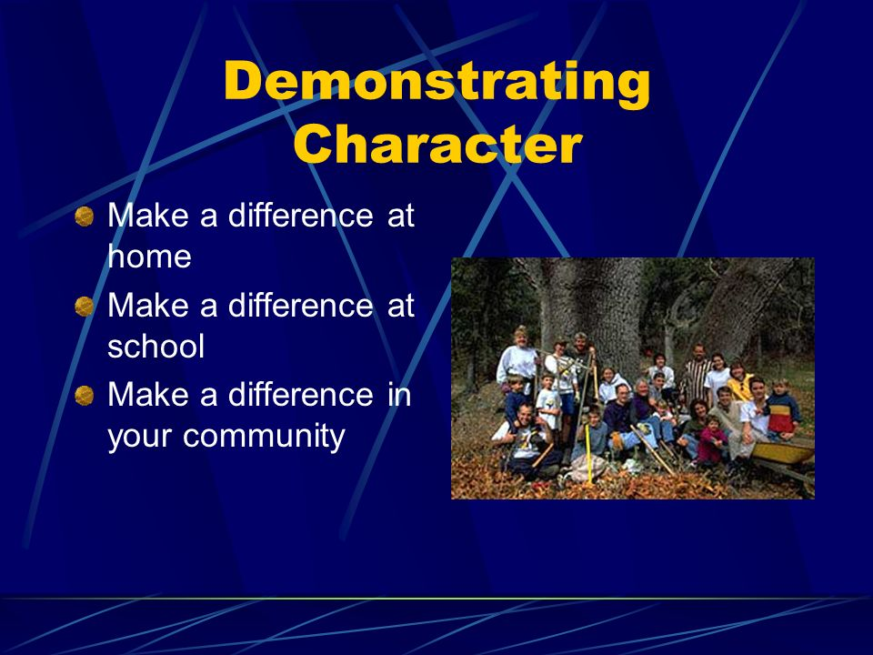 Demonstrating Character
