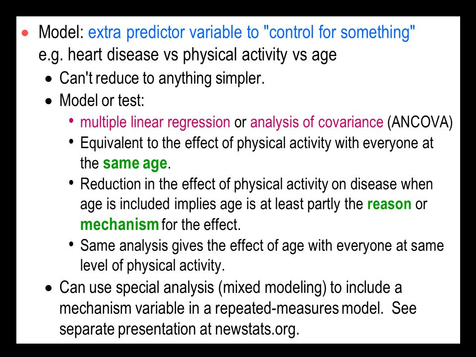 Model: extra predictor variable to control for something e. g
