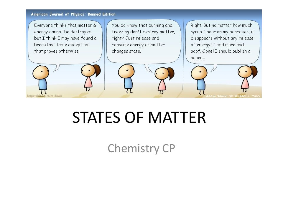 STATES OF MATTER Chemistry CP