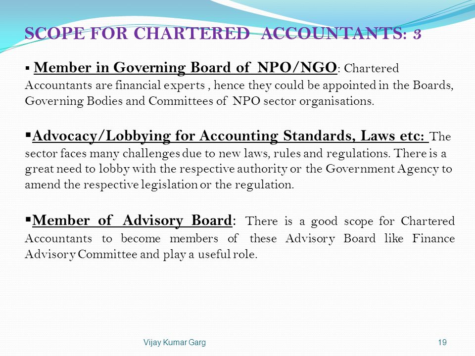 SCOPE FOR CHARTERED ACCOUNTANTS: 3