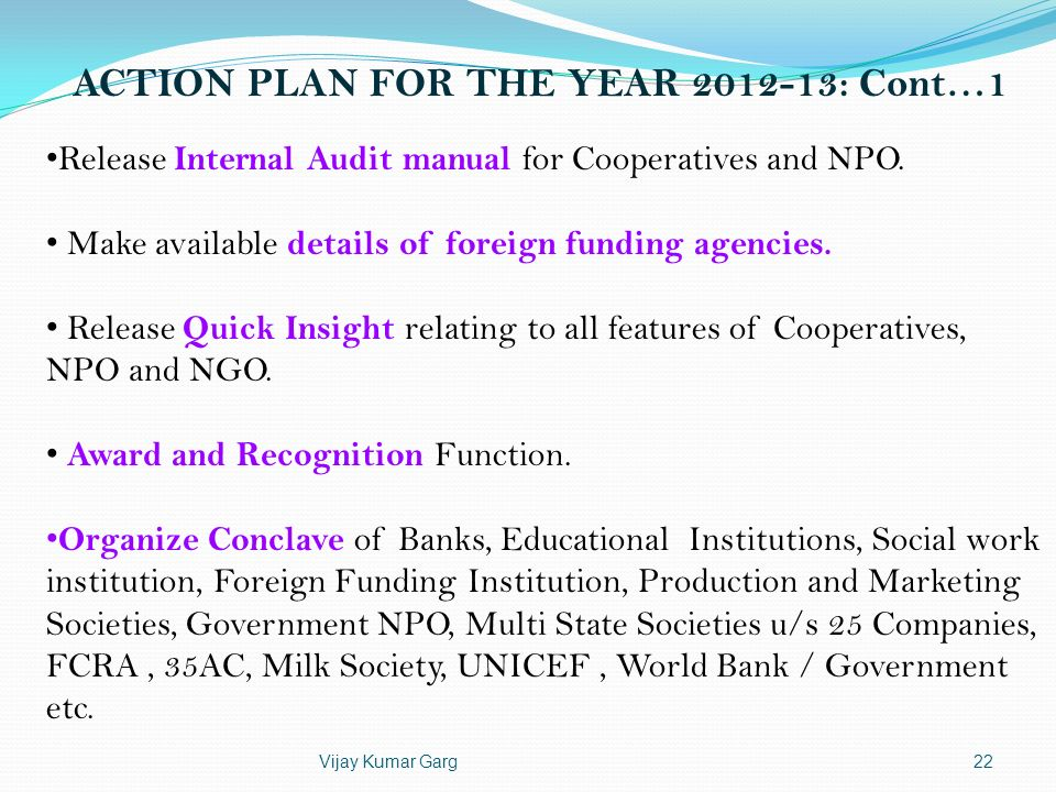 ACTION PLAN FOR THE YEAR 2012-13: Cont…1