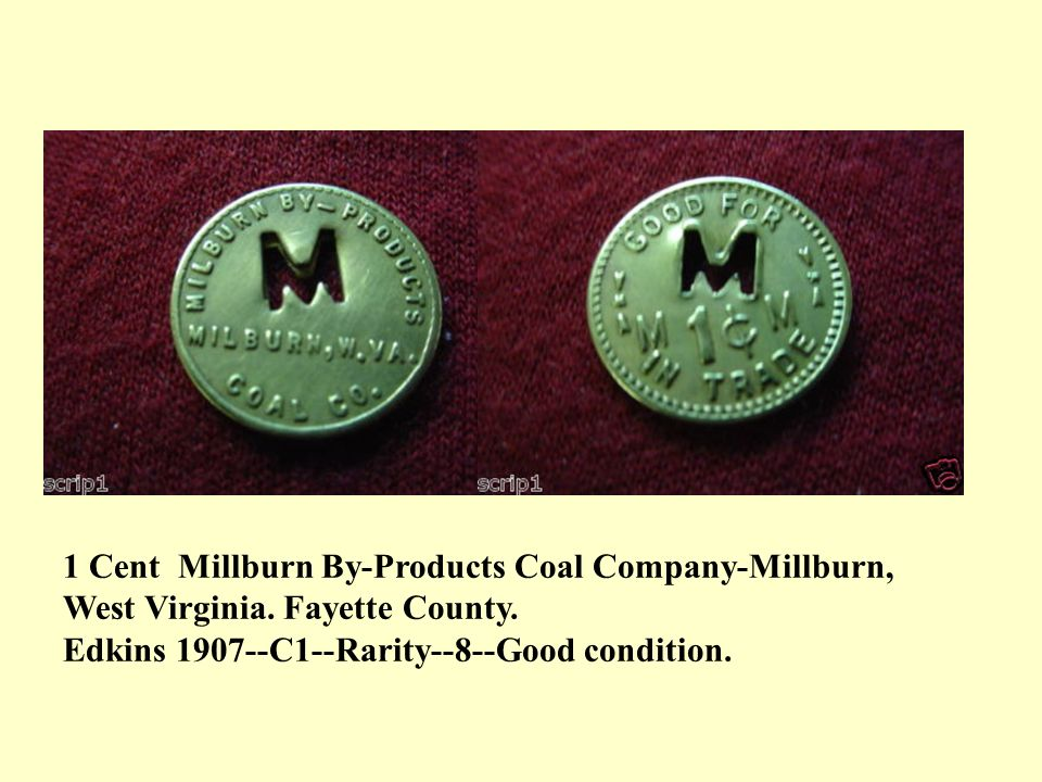 1 Cent Millburn By-Products Coal Company-Millburn,