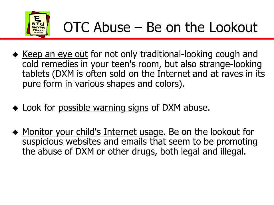 OTC Abuse – Be on the Lookout