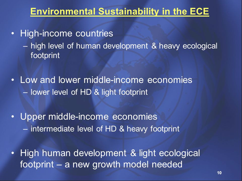 Environmental Sustainability in the ECE