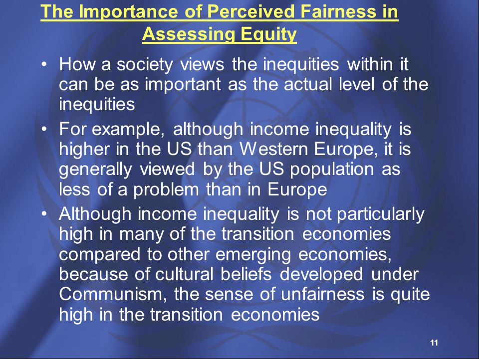 The Importance of Perceived Fairness in Assessing Equity