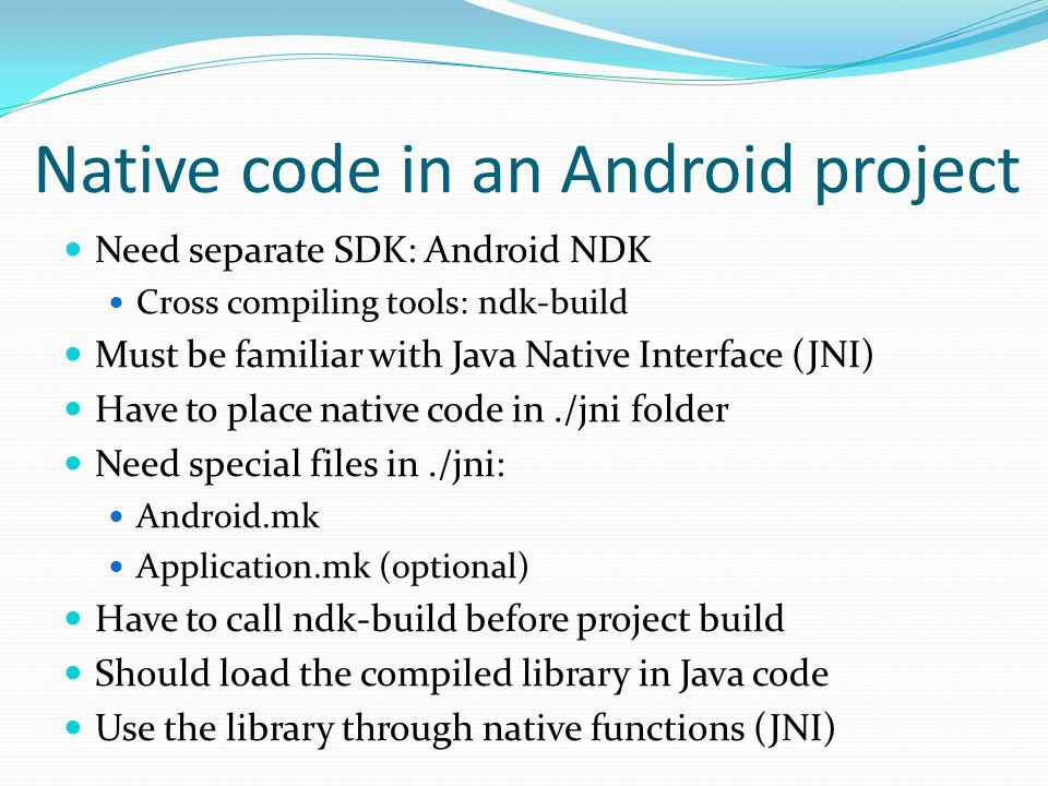 3D graphics on Android projects based on native code - ppt download