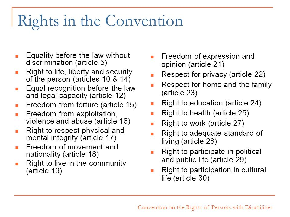 Rights in the Convention