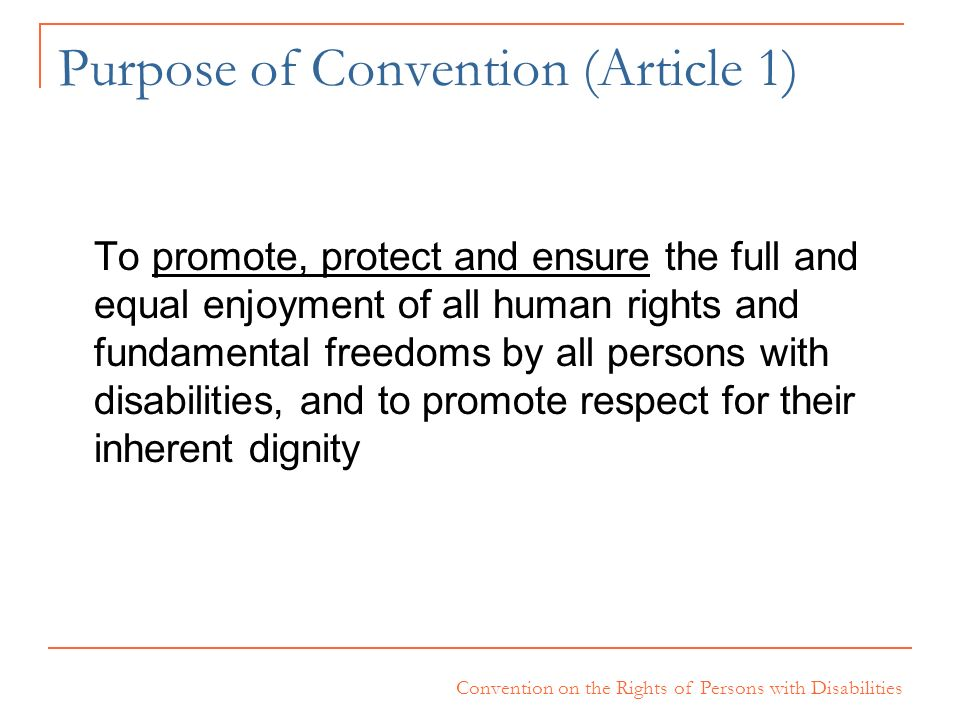 Purpose of Convention (Article 1)