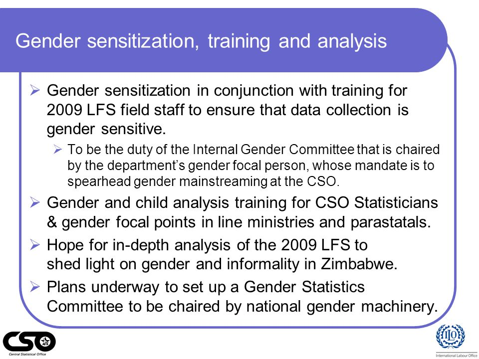 Gender sensitization, training and analysis