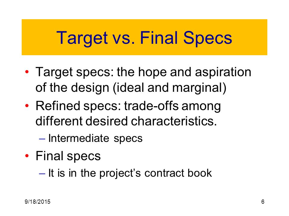 Product Specifications - ppt video online download