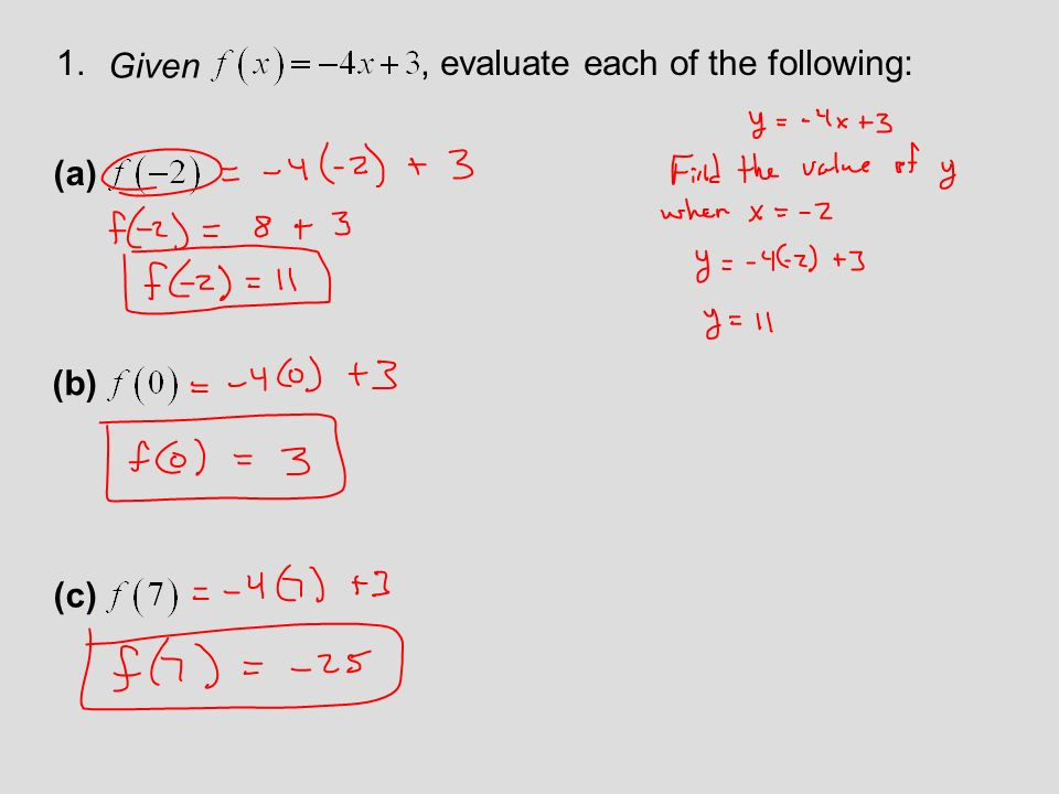 Function Notation And Linear Functions Ppt Video Online Download. Given Evaluate Each Of The Following A B C. Worksheet. Function Notation Worksheet Answers At Mspartners.co
