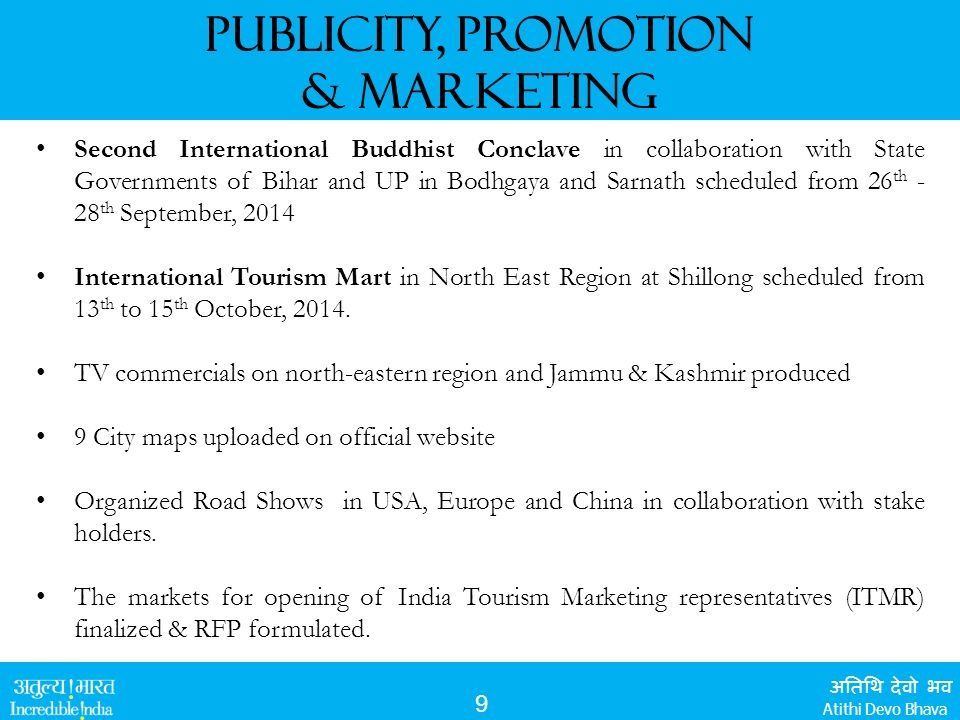 Ministry of Tourism vision & Initiatives / Achievements - ppt video