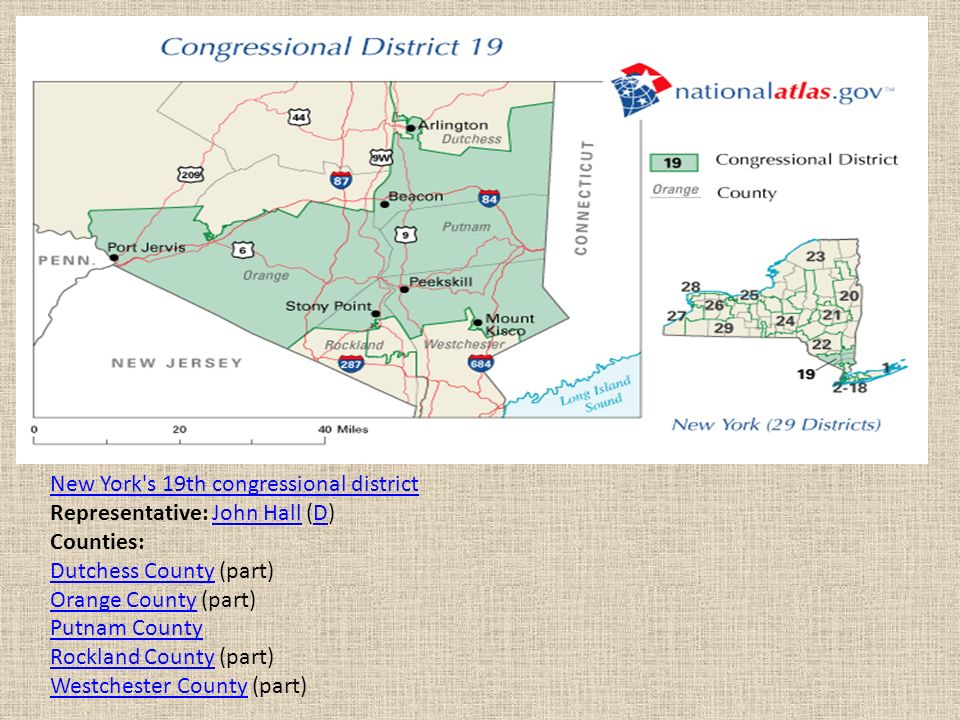 Map Of New York 19th Congressional District.Congress The National Legislature Ppt Video Online Download