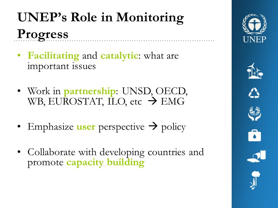 UNEP's Role in Monitoring Progress