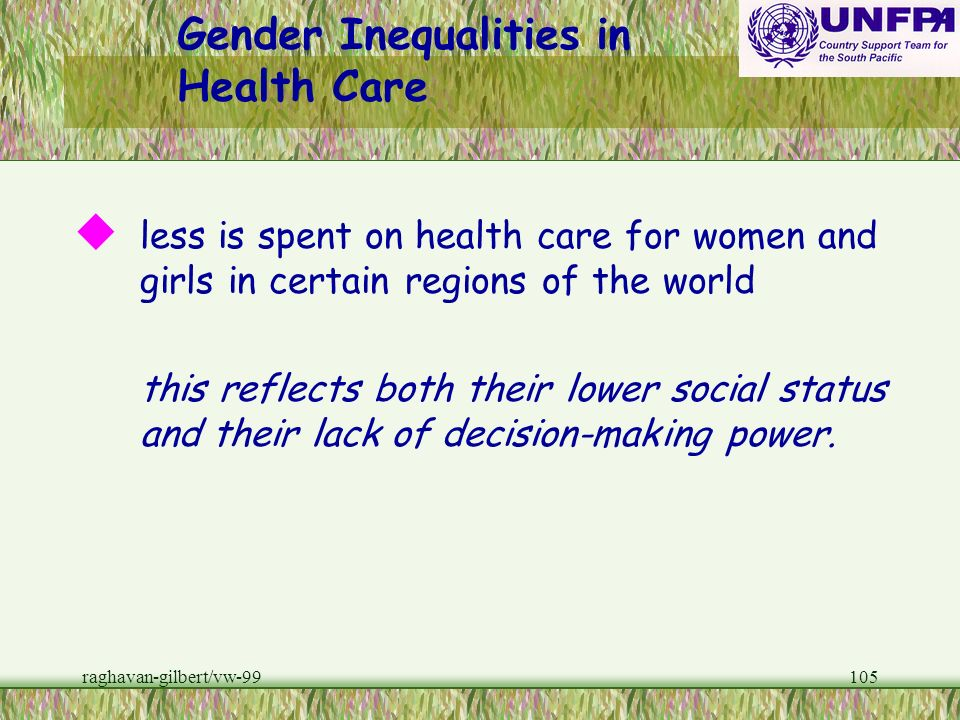 Gender Inequalities in Health Care