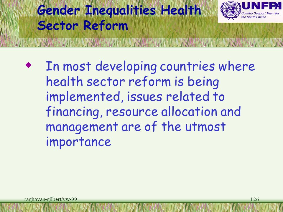 Gender Inequalities Health Sector Reform