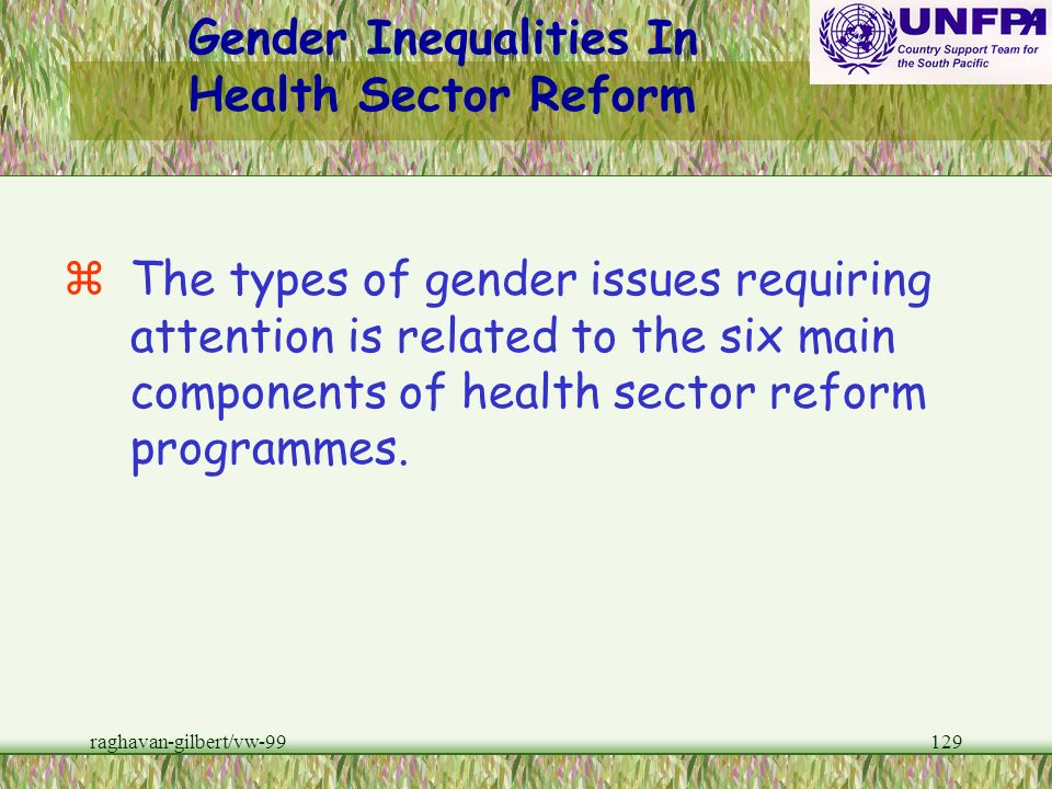 Gender Inequalities In Health Sector Reform