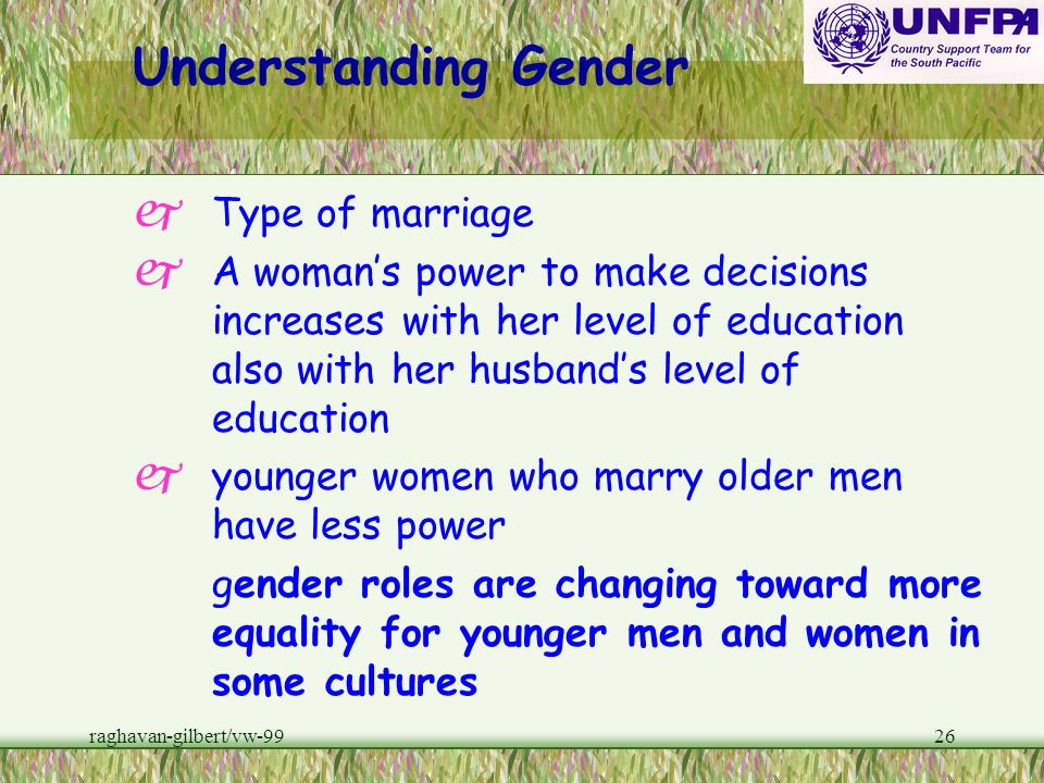Understanding Gender Type of marriage