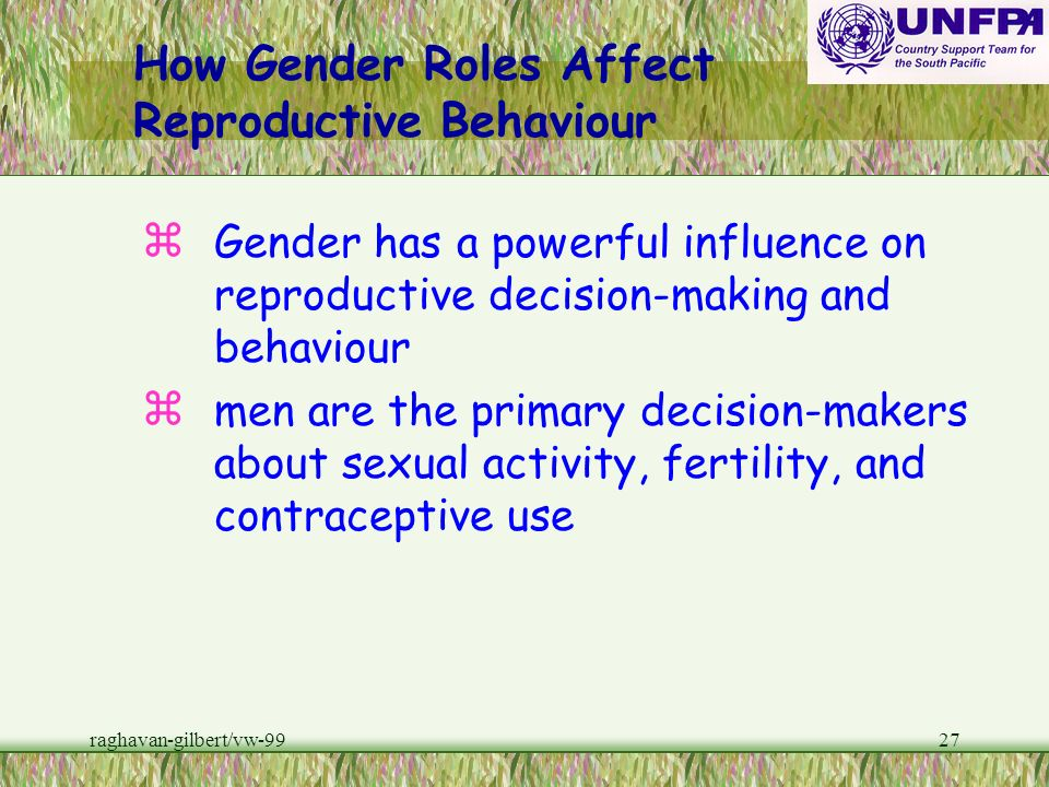 How Gender Roles Affect Reproductive Behaviour