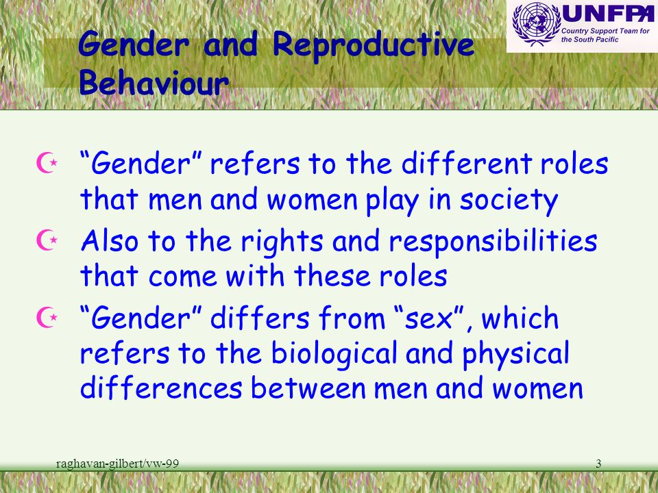 Gender and Reproductive Behaviour