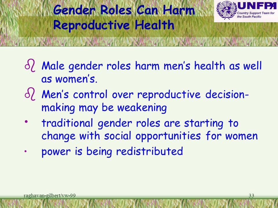 Gender Roles Can Harm Reproductive Health
