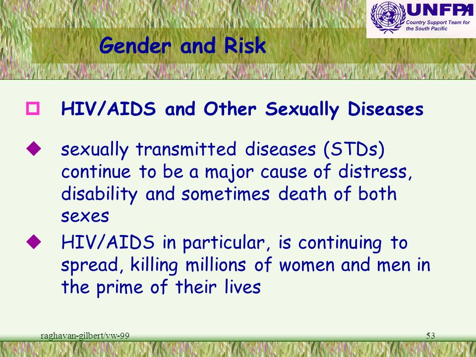 Gender and Risk HIV/AIDS and Other Sexually Diseases