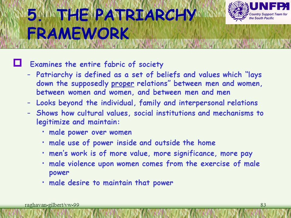 5. THE PATRIARCHY FRAMEWORK